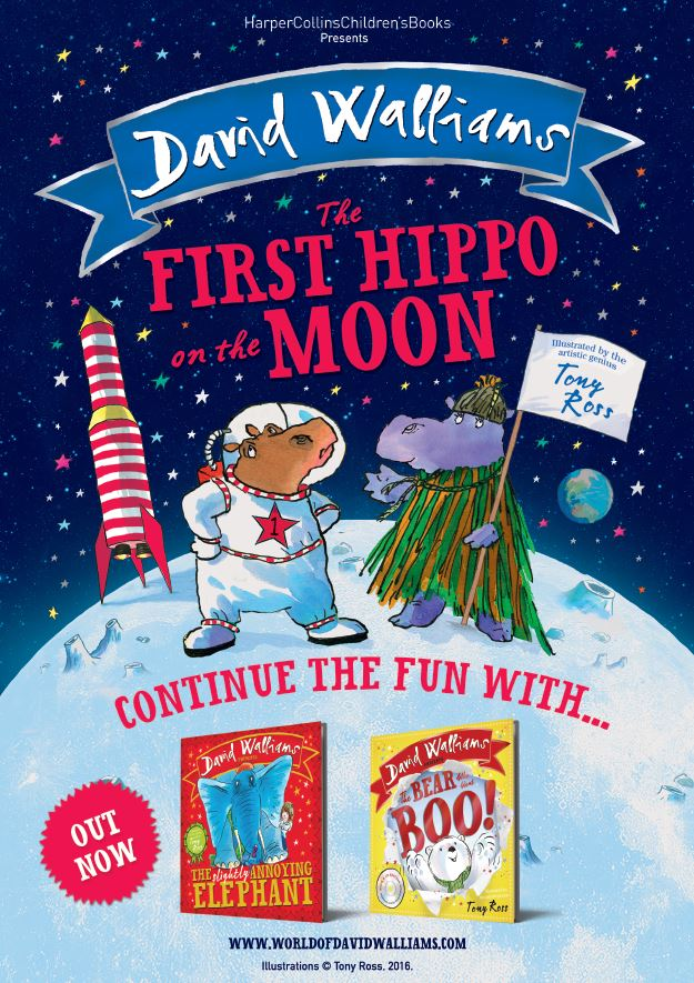 First Hippo on the Moon - A3 Poster